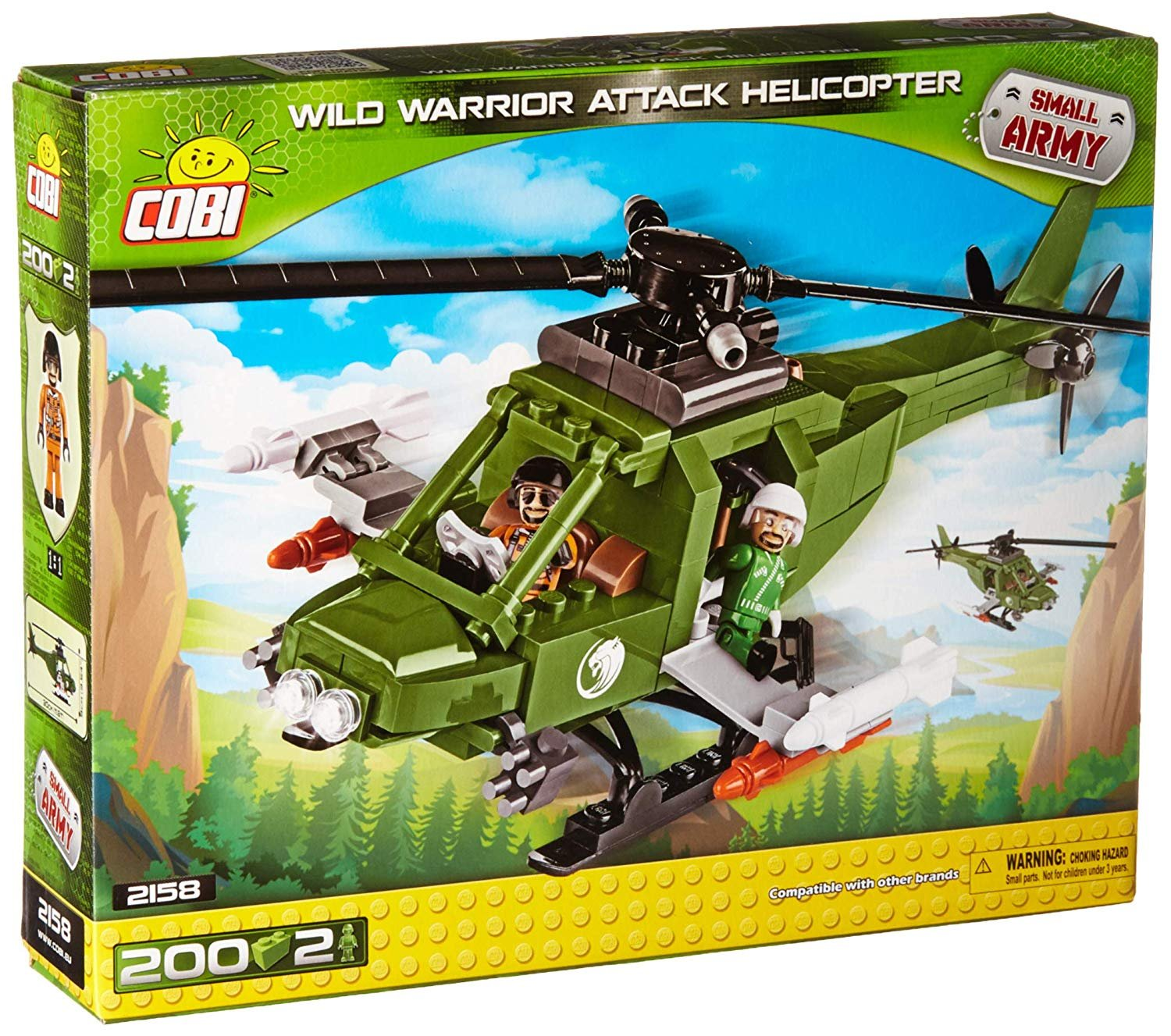 Cobi Wild Warrior Attack Helicopter Army Building Set