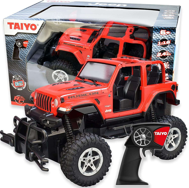 Taiyo Remote Control Red Jeep Rubicon 1:16 Scale