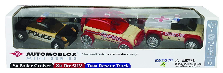 Automoblox Rescue Police Cruiser Ambulance Set