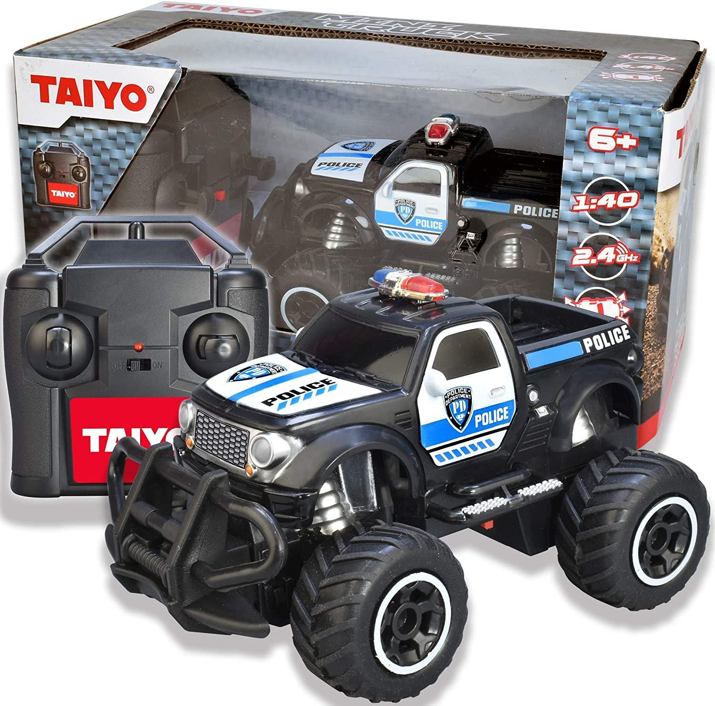 Taiyo Mini Remote Control Off Roader Police Truck 1:40 Scale