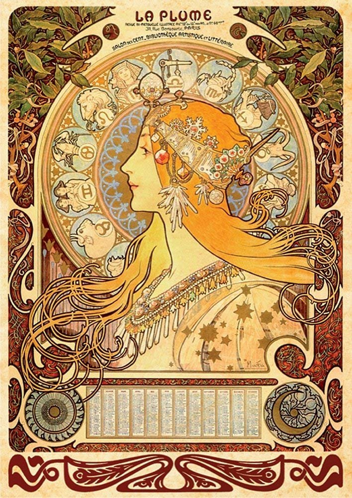 DToys 1000 pc Alphonse Mucha Puzzle