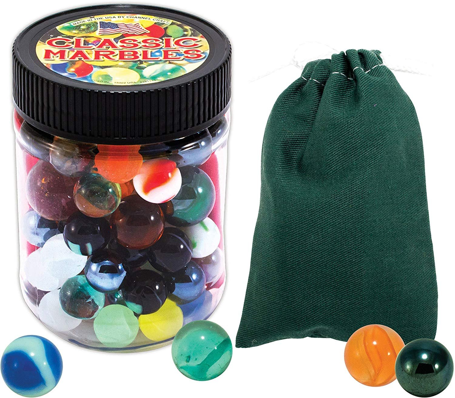 Channel Craft Classic Marble Pouch and Marbles