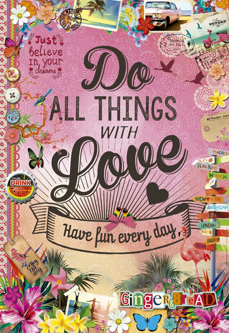 Educa 500pc Do All Things With Love Puzzle