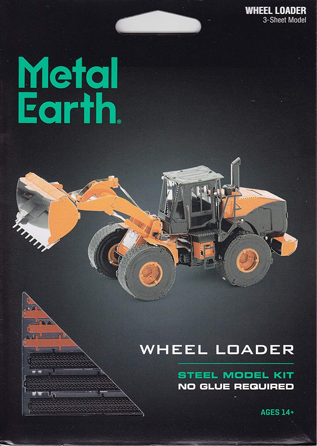 Metal Earth Model Construction:  Wheel Loader