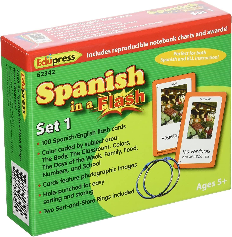 Spanish in a Flash Flash Card Set
