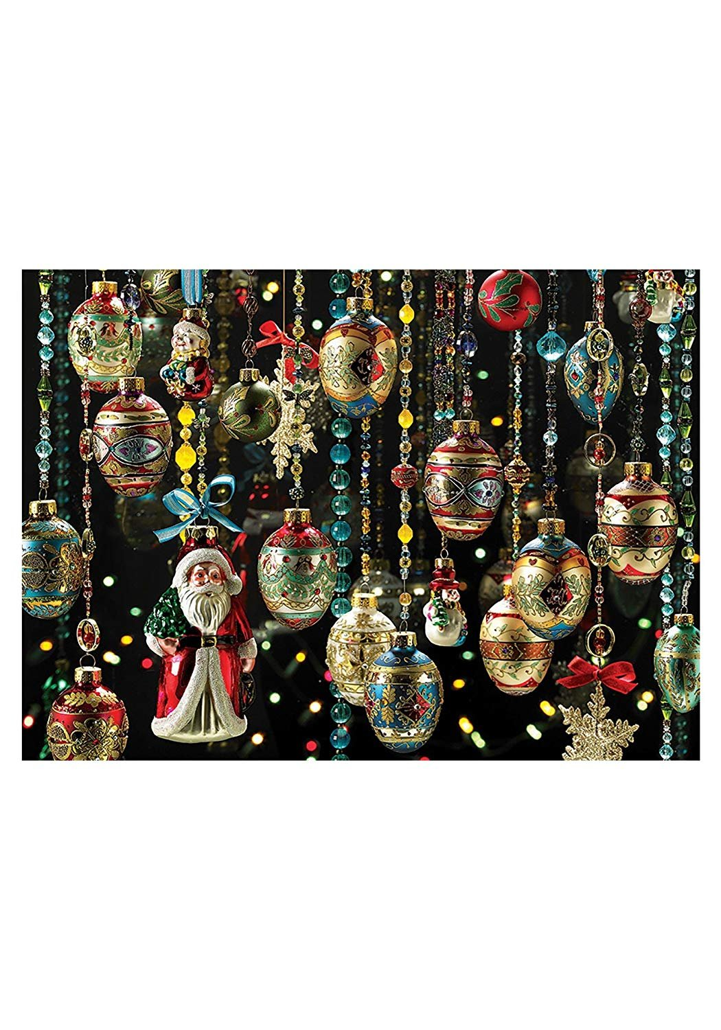 Cobble Hill 1000 pc Christmas Ornaments Jigsaw Puzzle