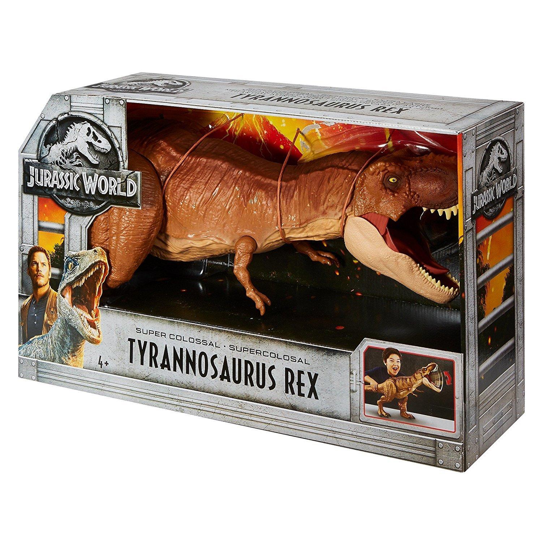 Dinosaur World 66 X 54 Lined Curtains Tie Backs: Jurassic World Attack Super Colossal T Rex Dinosaur Toy