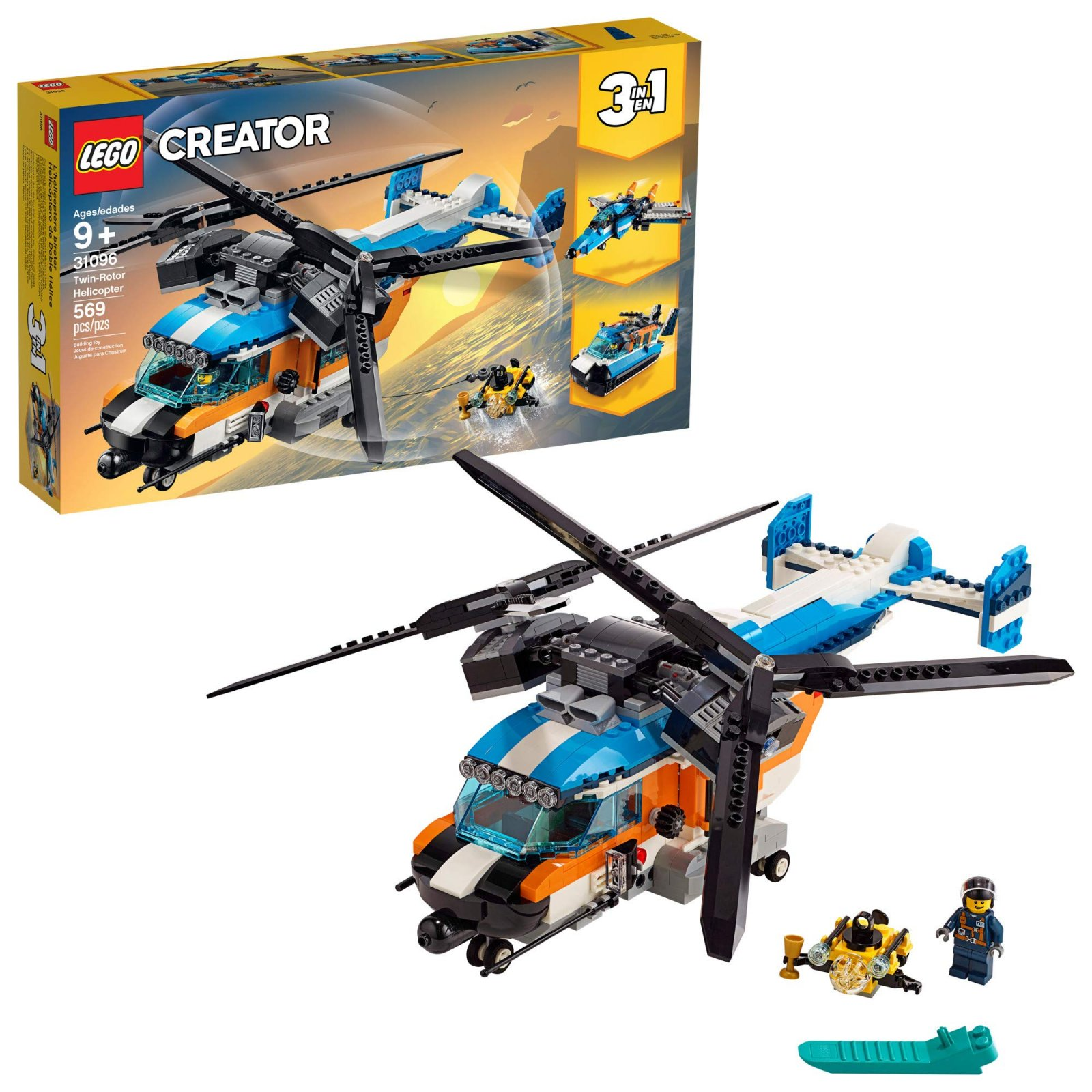 Lego Creator 3 in 1 Twin Rotor Helicopter (31096)