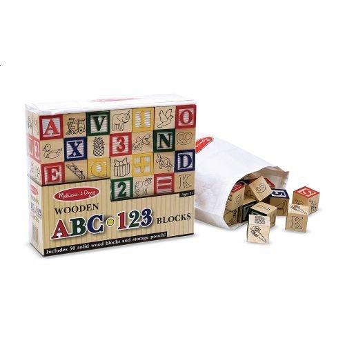 Melissa & Doug Classic ABC 123 Blocks