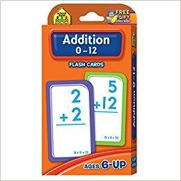 School Zone Addition 0-12 FlashCards