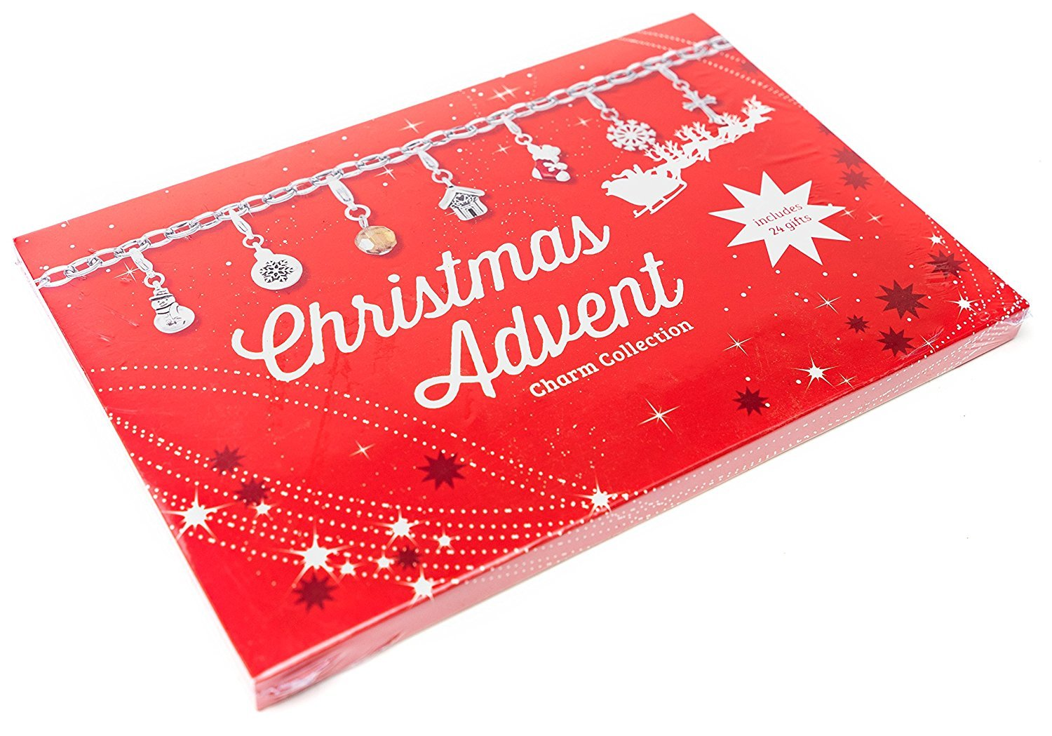 Christmas Advent Silver Plated Charm Collection, Includes 24 Gifts