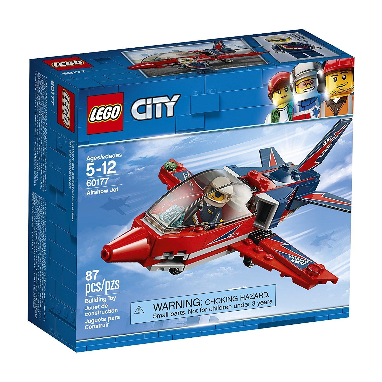 LEGO City Great Vehicles Airshow Jet 60177 Building Kit (87 Piece)
