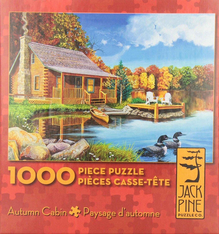 Jack Pine 1000pc Autumn Cabin Jigsaw Puzzle