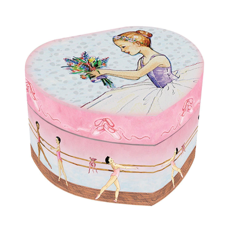 Enchantmints Swan Lake Ballet Heart Shape Musical Jewelry Box