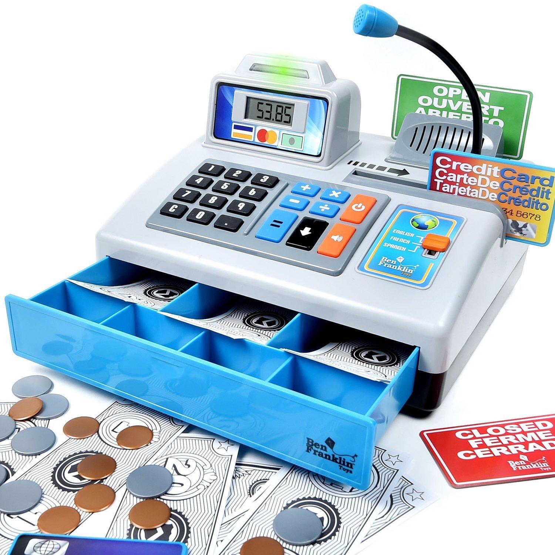 Ben Franklin Talking Cash Register Blue