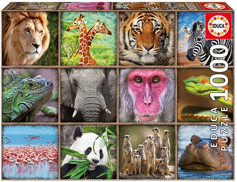 Educa 1000 pc Wild Animals Collage
