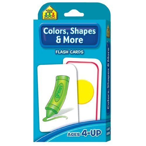 School Zone Colors, Shapes & More Flashcards