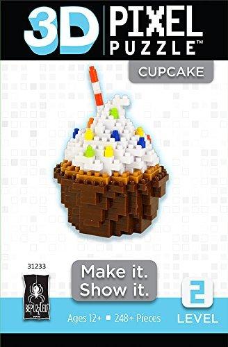 3D Pixel Puzzle Cupcake