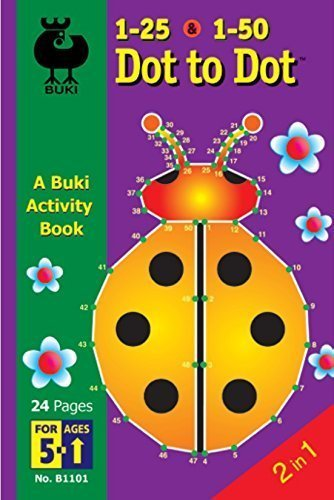 Buki Activity Book Dot to Dot 1 to 25 & 1 to 50
