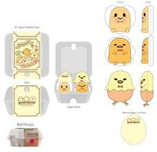 Gudetama Egg Carton Plush Magnet Set