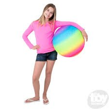 18 Neon Rainbow Knobby Ball