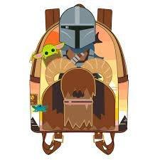 Loungefly Star Wars Mandalorian Bantha Rider Mini Backpack Purse