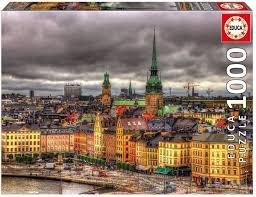 Educa 1000 pc Views of Stockholm Sweden