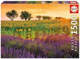 Educa 1500pc Field of Sunflowers & Lavender
