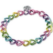 Charm It! Double Link Rainbow Bracelet