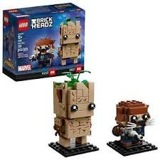 Lego Brick Headz Groot and Rocket