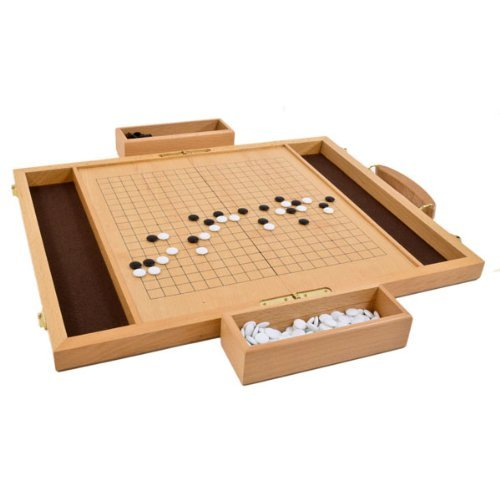 Classic Games Deluxe Wood Go Game Set