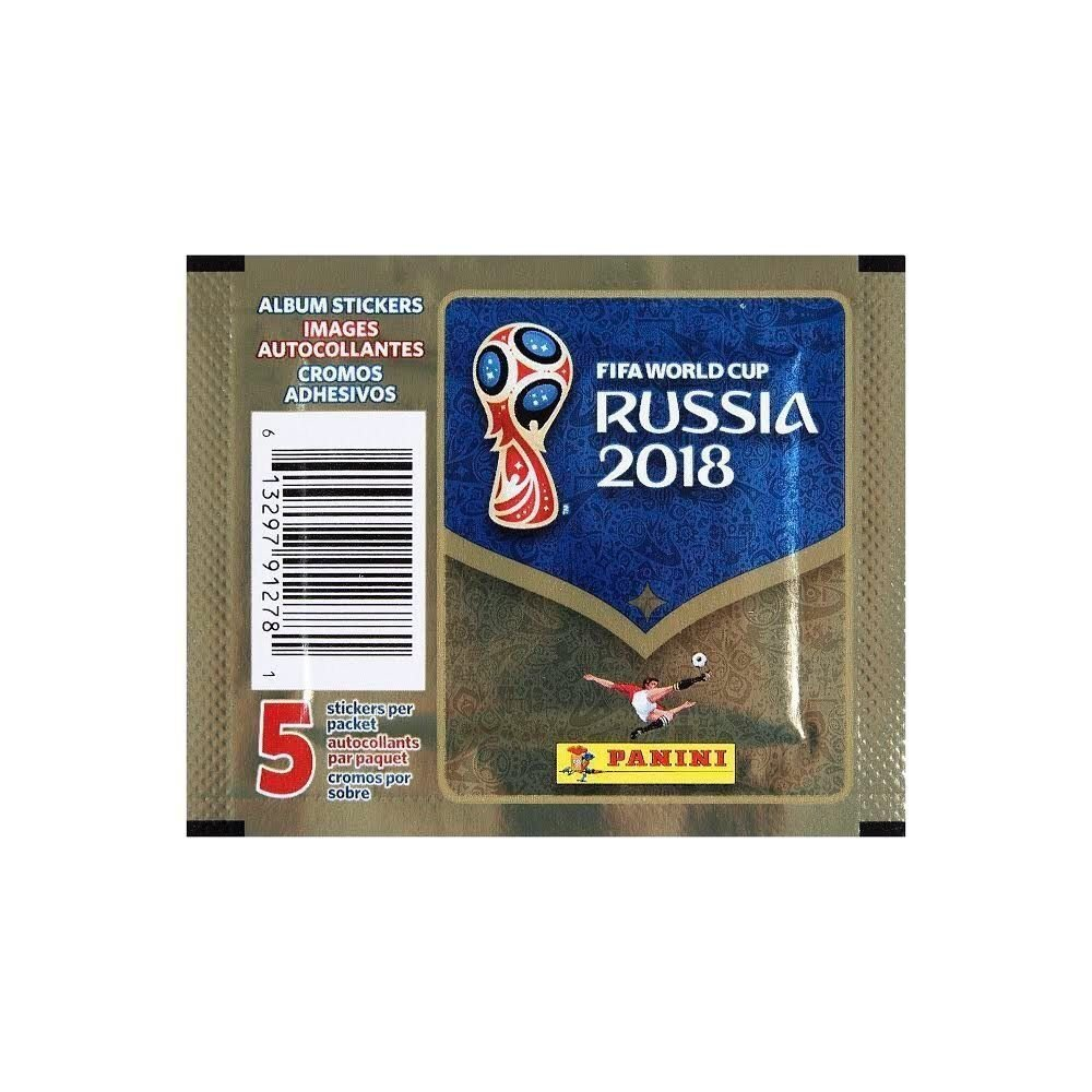 Fifa World Cup Russia 2018 Sticker 5 Pack