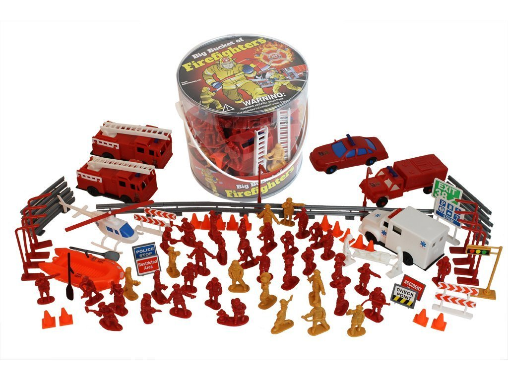 Castle Toys Big Bucket of Firefighters