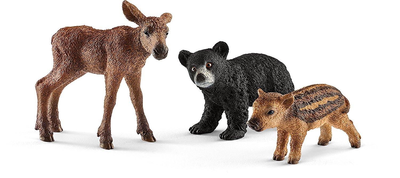 Schleich Wild Life Forest Babies Toy Figurine set