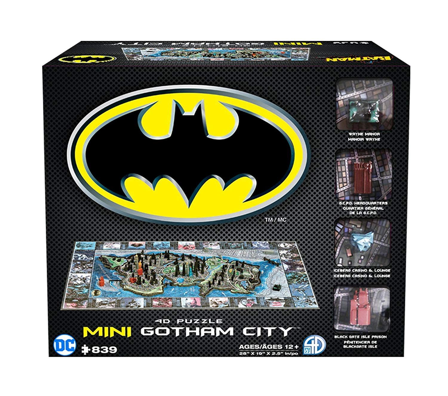 4D Cityscapes Mini Gotham City 839pc Batman Puzzle