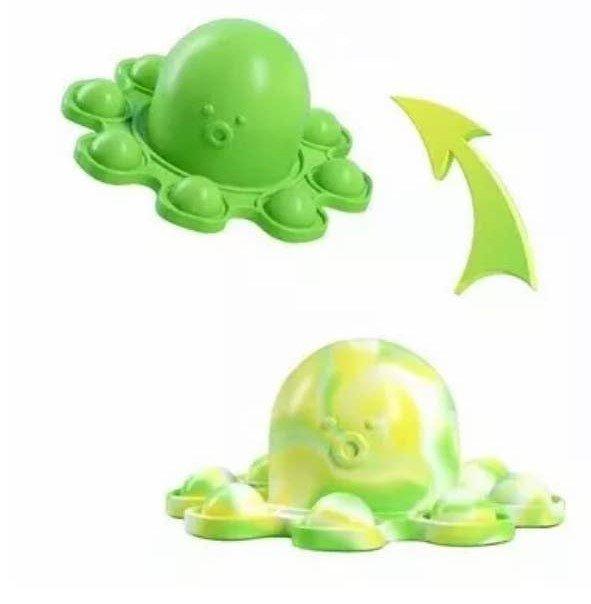 Flip n Go Octopopper Octopus Fidget Key Chain