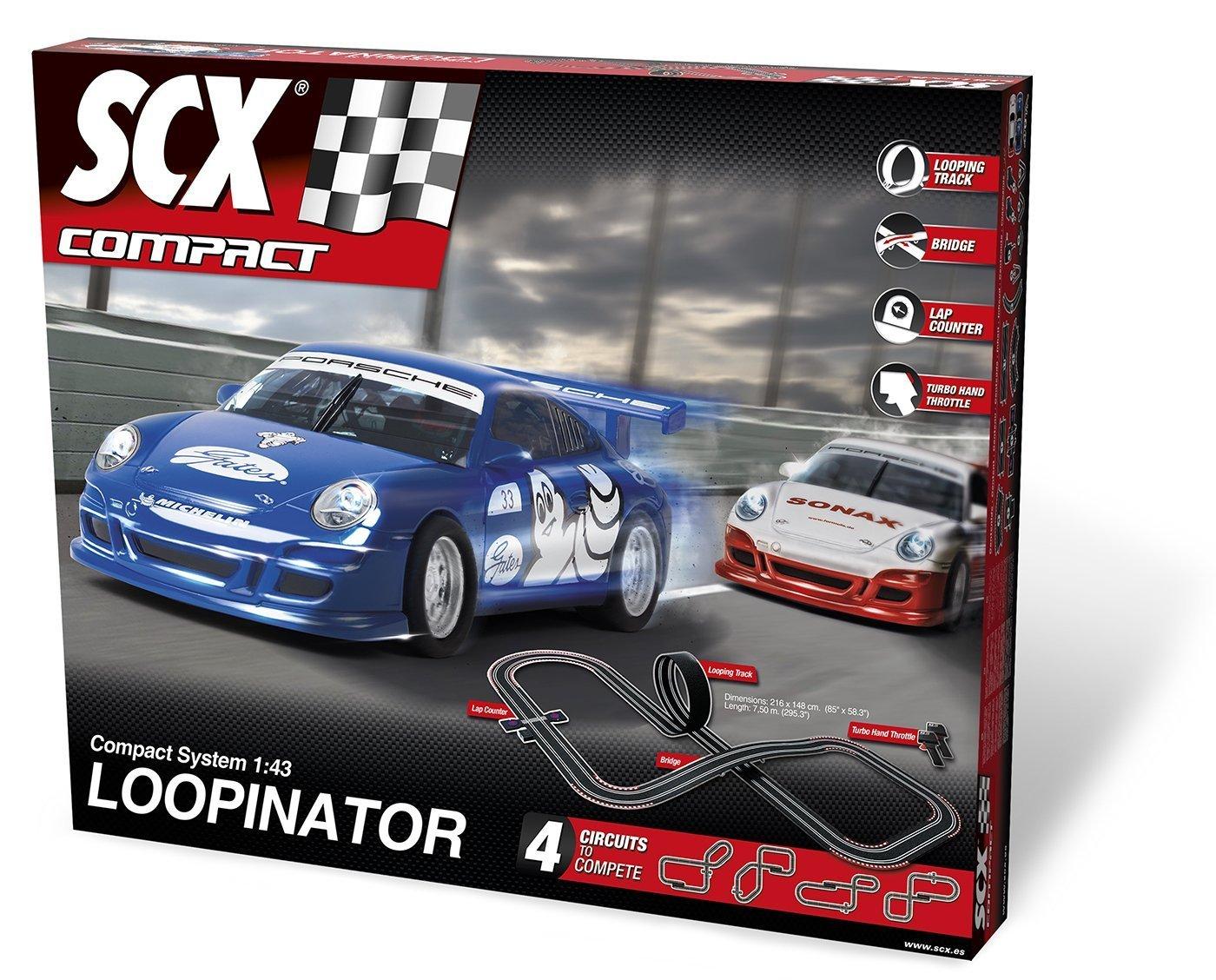SCX Loopinator Slot Car Set