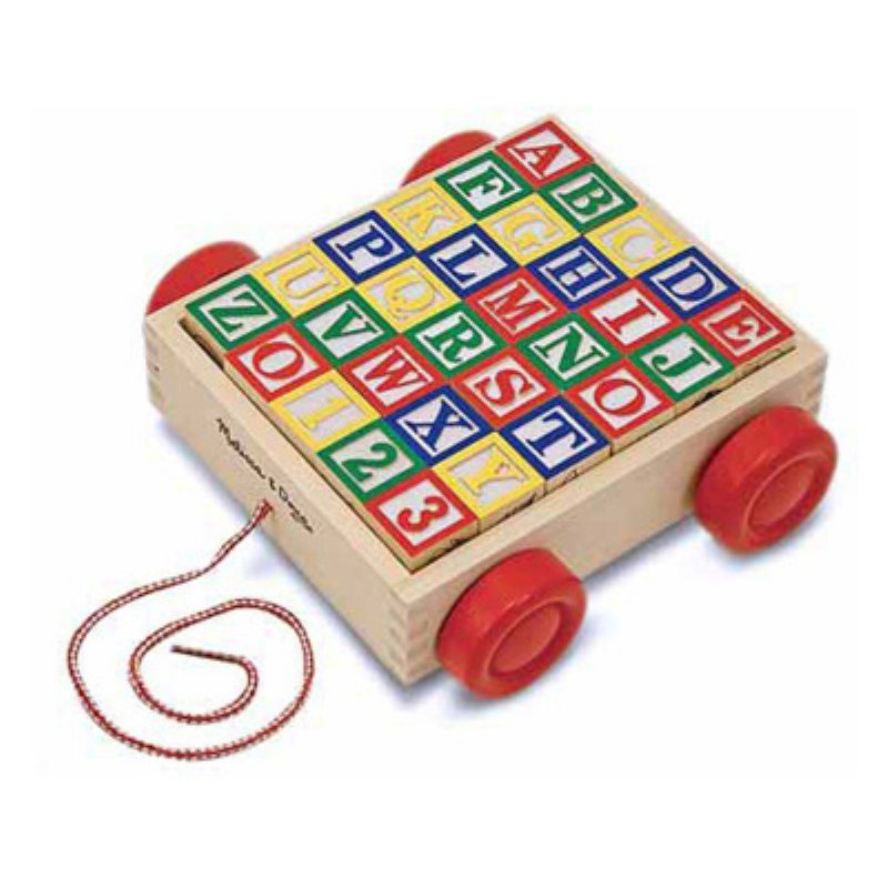 Melissa & Doug Classic ABC Blocks Cart