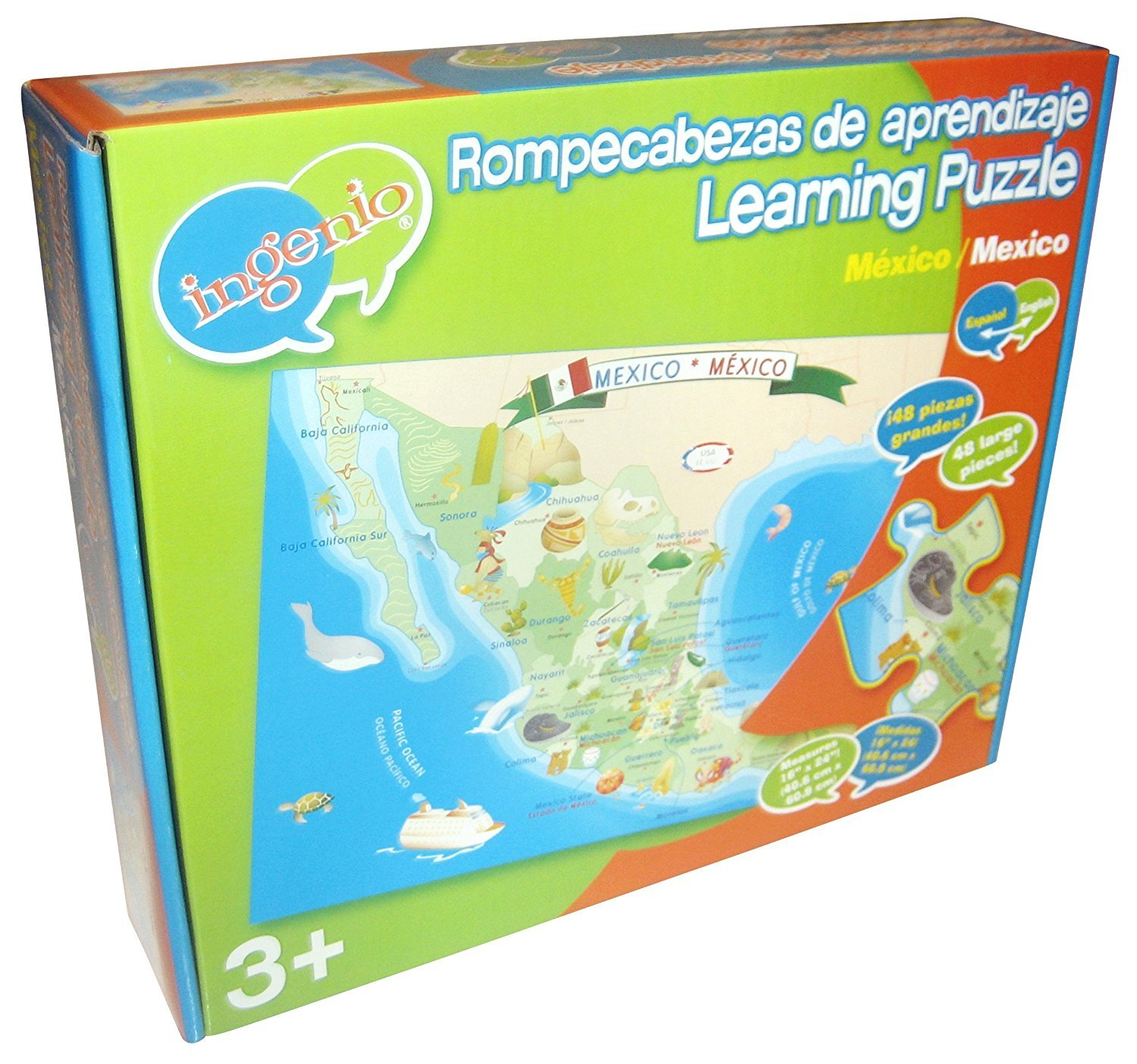 Ingenio Espanol/English Mexico Puzzle 48 PC