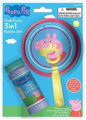 Peppa Pig 3 in 1 Bubble Set