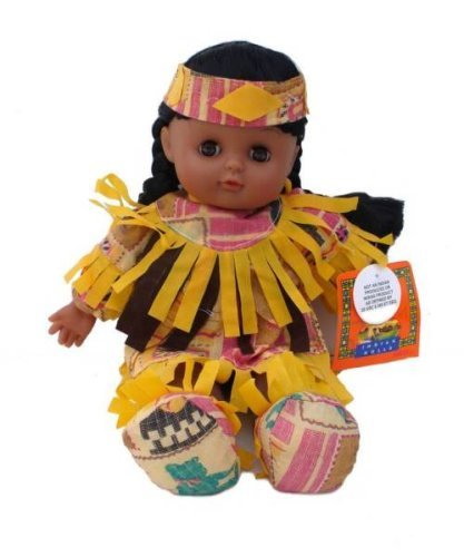 Native American Doll, Assorted Colors with Closing Eyes 12