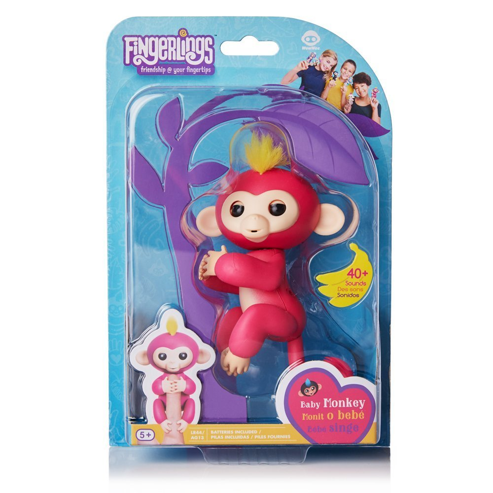 WowWee Fingerlings Baby Monkey  Interactive Baby Pet