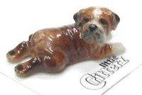 ENGLISH BULLDOG Puppy Dog Winston lays flat New Figurine MINIATURE Porcelain LITTLE CRITTERZ LC811
