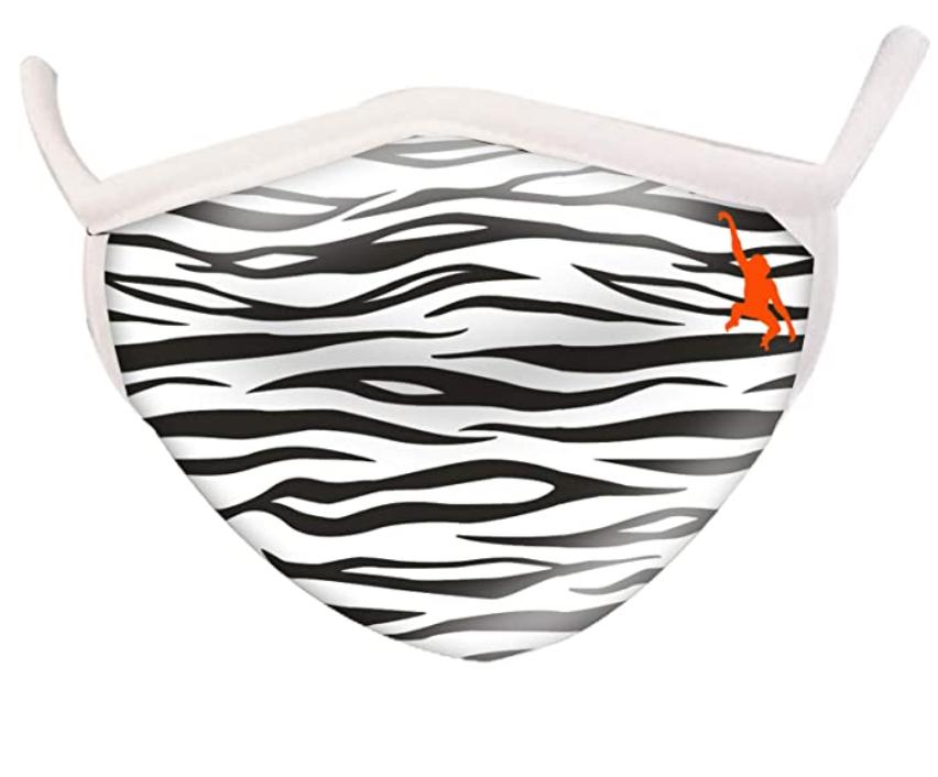 Wild Smiles 2 Ply Cotton Face Mask Zebra