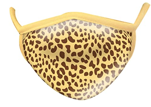 Wild Smiles 2 Ply Cotton Face Mask Cheetah: Adult