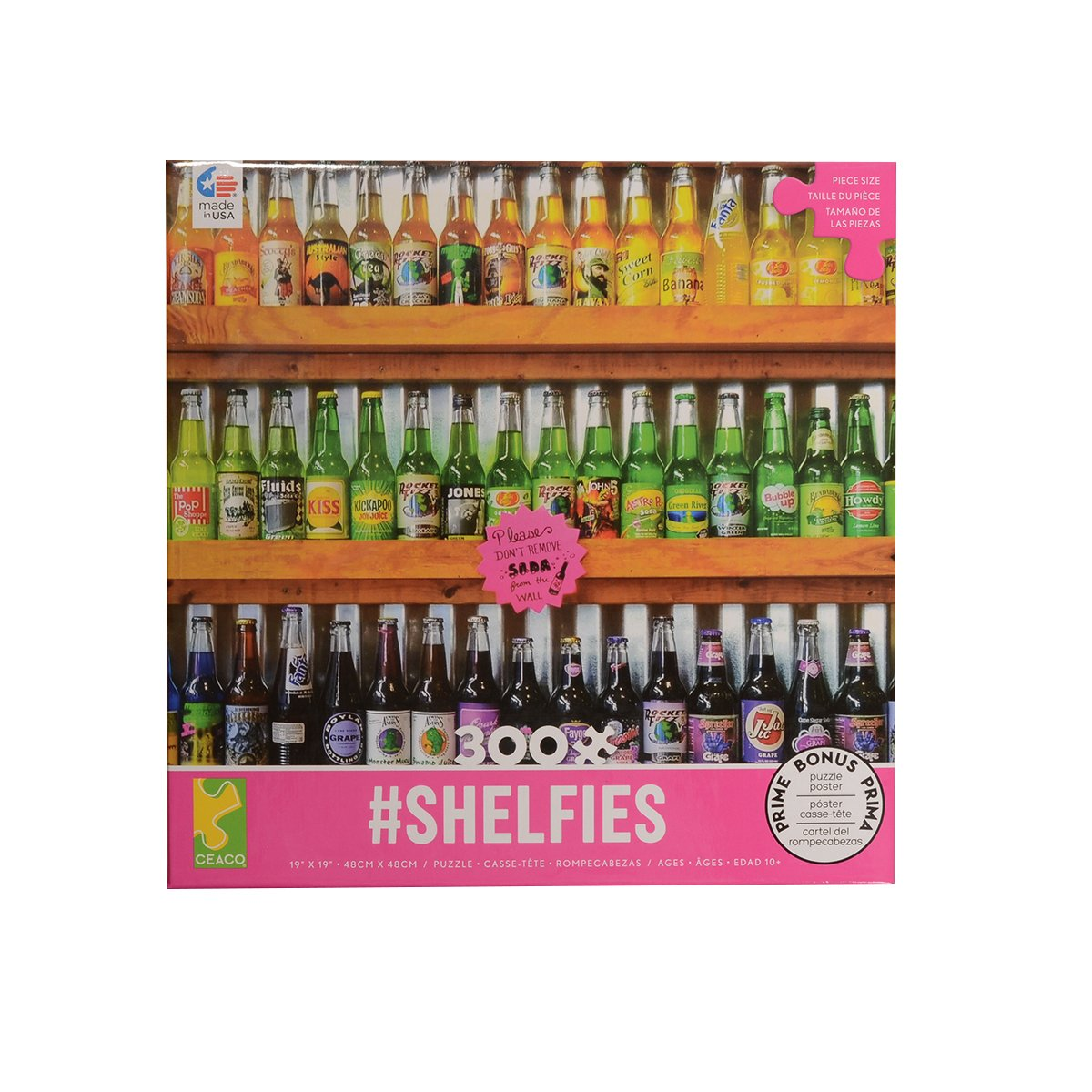 Ceaco Soda Pop #Shelfies 300 Piece Puzzle