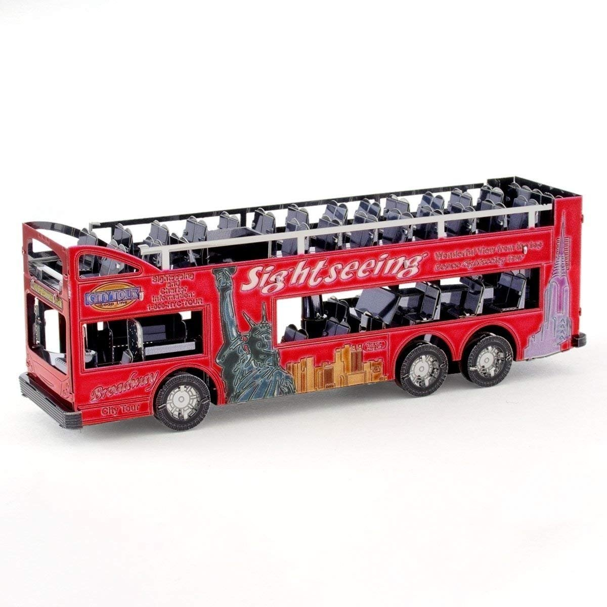 Metal Earth Big Apple Tour Bus Steel Model Kit