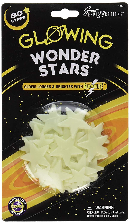 Great Explorer Glowing Wonder Stars- 50pc