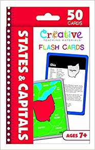 Creative Teaching  States and capitals flashcards