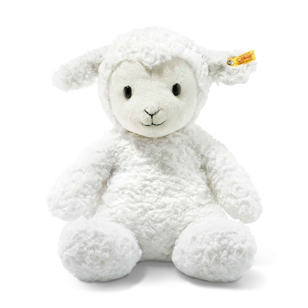 Steiff Stuffed Fuzzy White Lamb Plush Toy 16 4001505073434